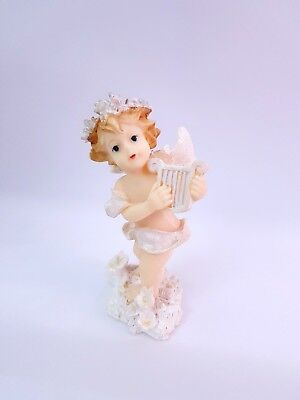 Vintage Resin Statue Girl Angel Wings Figurine Beautiful Rare Christian Amazing