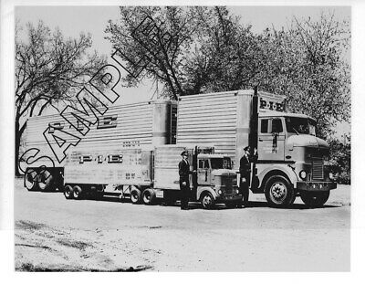 P.I.E. PETERBILT 350-COE/DROM & 'MIGHTY MIGHT' 1/2 Scale 8x10 B&W Glossy Photo