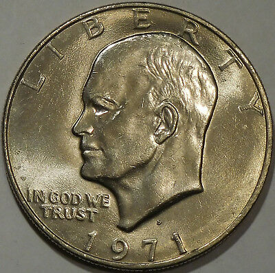 1971 D Eisenhower Dollar BU Ike US Mint Coin Uncirculated Denver