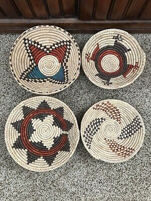 Western Indian Native American Basket Bowls Coil Weave NEW
