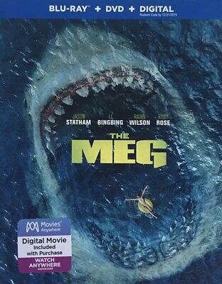 THE MEG ~ Blu-Ray + DVD + Digital *New *Factory Sealed