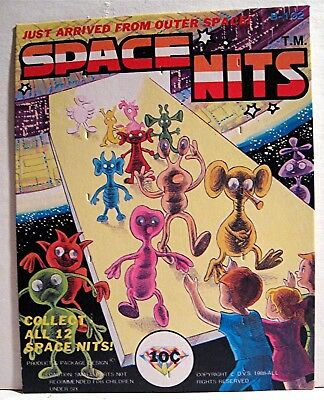 Space Nits Toy 1988 10 Cent Gumball Vending Machine Charms Card Old Stock