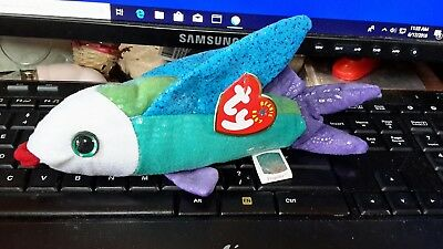 Ty Beanie Baby / Babies Propeller the Flying Fish - MWMT