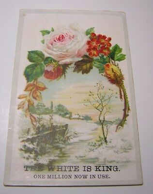 Antique Victorian White Sewing Machine Advertising Trade Card