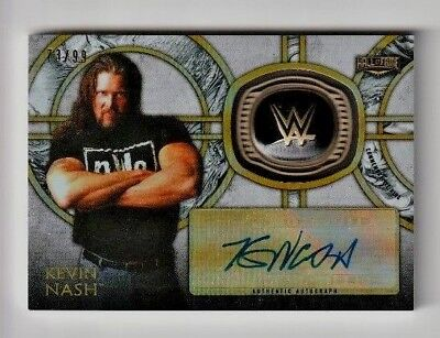 2018 Kevin Nash Topps Wwe Legends Auto Parallel Hall Of Fame Ring #73/99