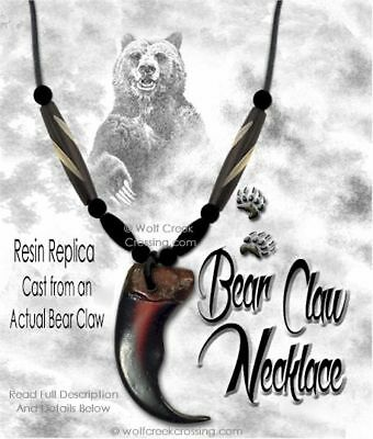 Free Ship - Rugged Grizzly Bear Claw Necklace Wild Mountain Man Rendezvous #g5