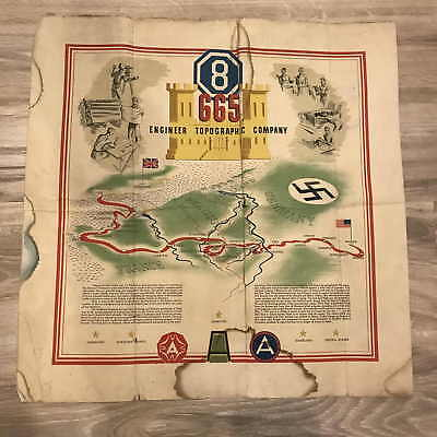 ~ WWII 665th Engineer Topographic Company Map ~