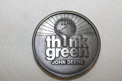 John Deere THINK GREEN Collector Belt Buckle 1996 1 of 500 Mint Limited Edition
