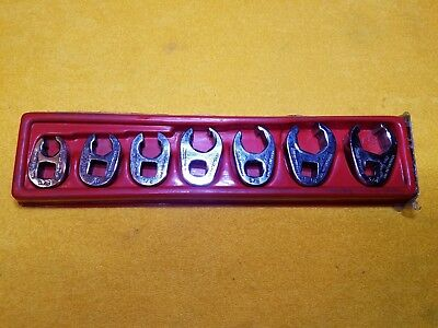 Snap On Tools 207Sfrh 7 Pc Crowfoot Flare Nut Wrench Set  6 Point Set 3/8 Dr