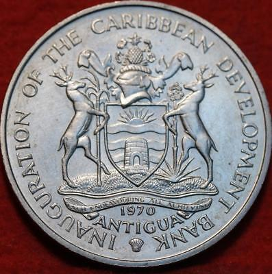 "Uncirculated 1970 Antigua $4 ""Food For Mankind"" Clad Foreign Coin"