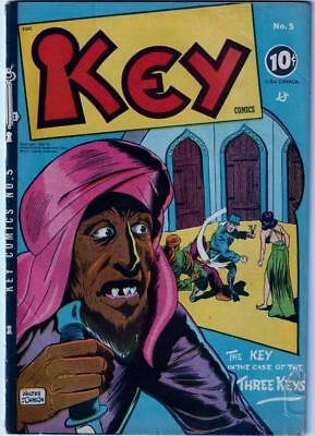 ~Golden Age Comic~Key Comics Vol #2 Issue #5 August  1946~Nice Condition~
