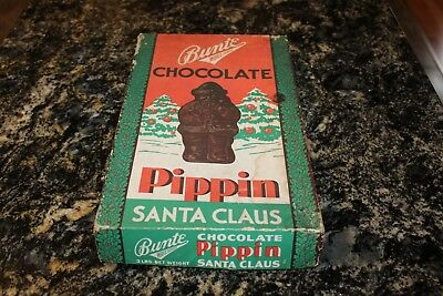 Vintage Cardboard Candy Box Bunte Brothers Chicago PIPPIN SANTA CLAUS Chocolate