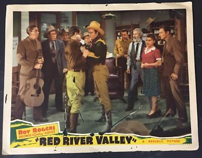 Roy Rogers 'Gabby' Hayes Brady Farr Nolan Payne Red River Valley lobby card 2282