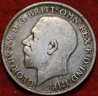 1921 Great Britain Florin Silver Foreign Coin