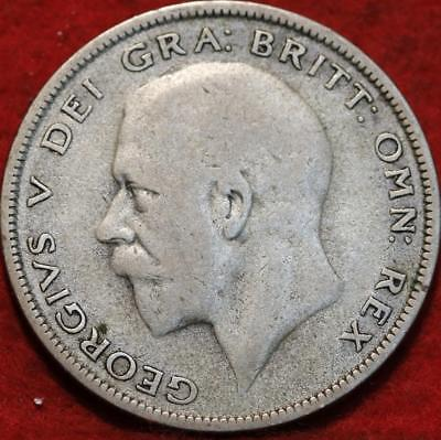 1928 Great Britain 1/2 Crown Silver Foreign Coin