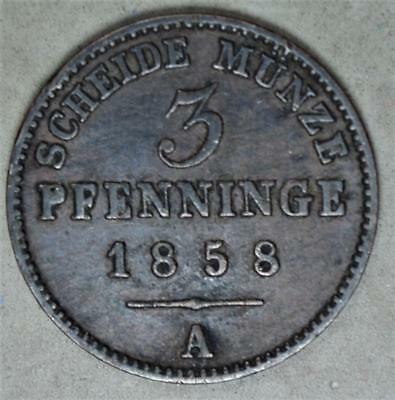 Germany-Prussia 1858-A 3 Pfennig