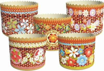 5 Easter Bread Parchment Baking Paper Molds Forms Paska Kulich Panettone Cakes