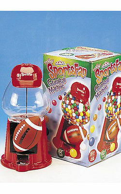 NEW FOOTBALL Themed Glass Domed Carousel Bubblegum Machine - gumballs  Candy