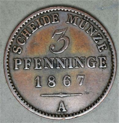 Germany-Prussia 1867-A 3 Pfennig