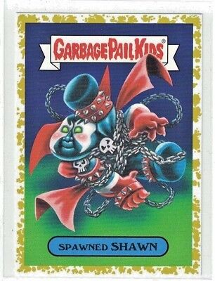 Garbage Pail Kids We Hate the 90s Spawned Shawn Fools Gold #'d 10/50