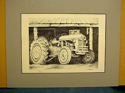 FORD TRACTOR ART PRINT by BOB FLACKLAM - MATTED