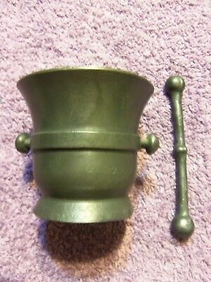 Antique rare silverplate stamped CMA w/ crown Pharmacy medicine mortar & pestle