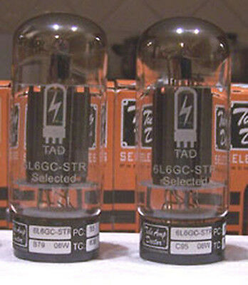 TAD 6L6GC Black Plate tubes - Matched Pair