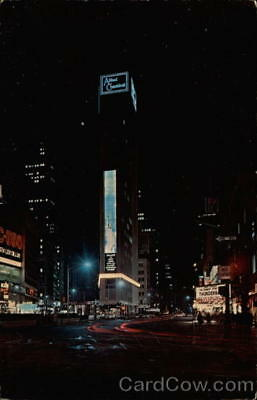 Times Square,New York City,N.Y. night view of the new Allied Chemical Tower Buil