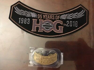 2018 Harley Davidson Owners Group HOG  Pin and Patch Set