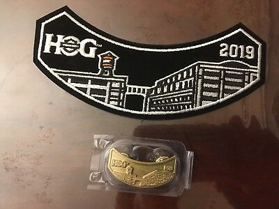 2019 HOG - Harley Owners Group Pin and Patch Set - NEW