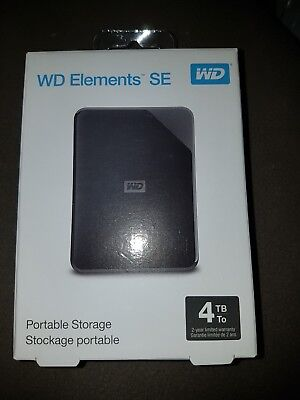 "Western Digital WD Elements SE 4TB 2.5"" USB 3.0 Portable External Hard Drive HDD"