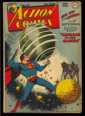 Action Comics #111 Nice Original Owner Golden Age Superman DC 1947 VG+