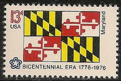 US 1639 State Flags Maryland 13c single MNH 1976