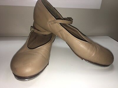 Tan Leather Tap Shoes Size 9