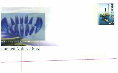 (C 123) Australia FDC cover - 2 pre-paid envelope - Liquefied Natural Gas