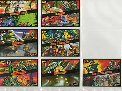 Mars Attacks! Occupation - Lot Of 7 Different Then And Now! Chase Cards NM