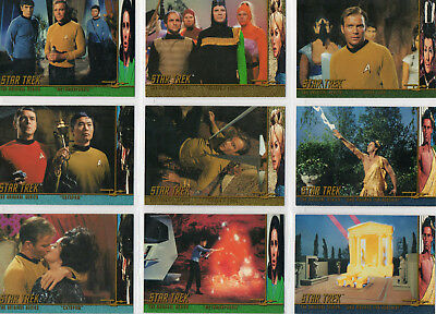 Star Trek TOS Season 2 - Near Complete Character Log chase set NM Skybox 1997