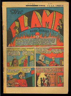 Wonderworld Comics #11 Coverless o/w Nice Origin The Flame Lou Fine Fox 1940