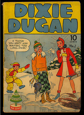 Dixie Dugan #2 Golden Age Eastern Color Comic 1942 GD+