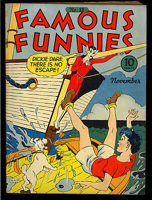 Famous Funnies #88 Nice Golden Age Buck Rogers Eastern Color Comic 1941 VG