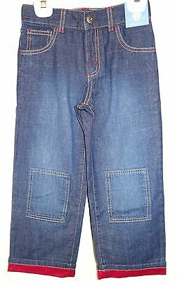 NWT Gymboree Holiday Aviator Jeans With Red Cuff Boy's 2T