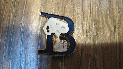 vintage Peanuts Snoopy B letter pin