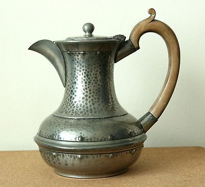 """Lovely Shaped Vintage Art Deco """"""""period Pewter""""""""  Teapot"""