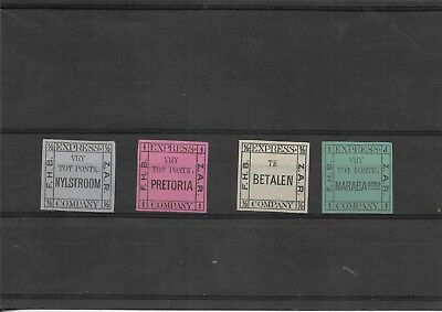 South Africa Pretoria 4x scarce express company postage dues seldom seen (R73)