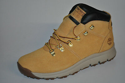 9aefe1f45fa MEN'S TIMBERLAND WORLD Hiker Mid Waterproof Leather Boots TBA1QJ9201 ...