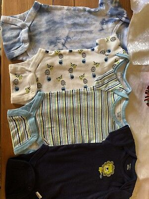 4pc Color Coordinated Baby Boy Clothes Gerber/Carter's Size 0-3 Clothes Lot
