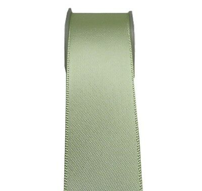 "4y 50mm 2"" Lime Juice Premium Heavy Double Faced Sided Satin Ribbon Eco FREE PP"