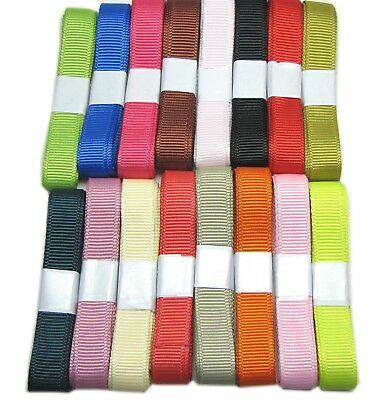 "15y 16mm 5/8"" Mixed Assorted Colour Premium Grosgrain Ribbon Wedding Eco FREE PP"