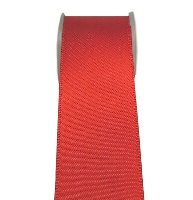 "4y 50mm 2"" Poppy Red Premium Heavy Double Faced Sided Satin Ribbon Eco FREE PP"