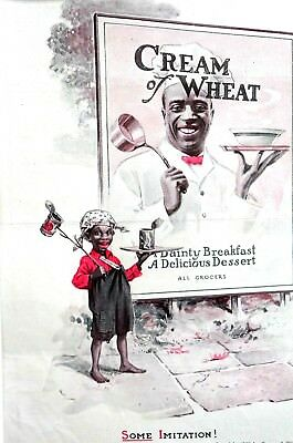 Cream of Wheat Ad 1920 SOME IMITATION BREAKFAST Poor Southern Child Matted Print